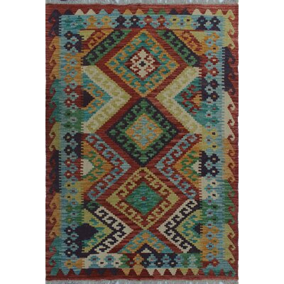 One-of-a-Kind Kratzerville Kilim Joyce Hand-Woven Wool Gold Area Rug
