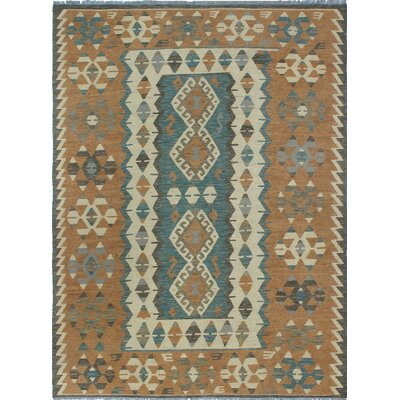 One-of-a-Kind Kratzerville Kilim Marissa Hand-Woven Wool Gray Area Rug
