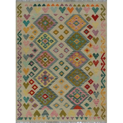 One-of-a-Kind Kratzerville Kilim Clara Hand-Woven Wool Ivory Area Rug