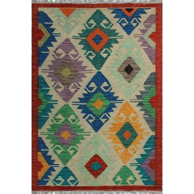 One-of-a-Kind Kratzerville Kilim Adrienne Hand-Woven Wool Beige Area Rug