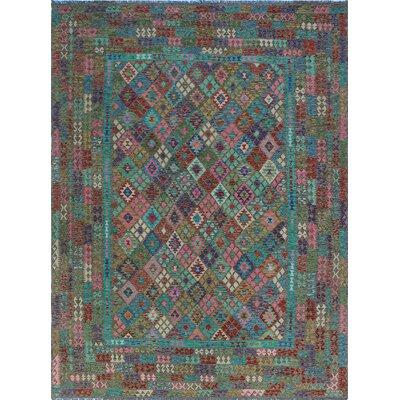 One-of-a-Kind Kratzerville Kilim Ishaq Hand-Woven Wool Beige Area Rug