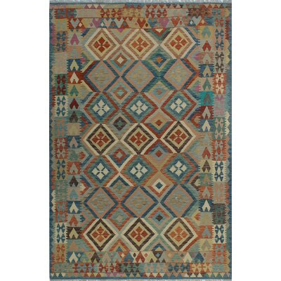 One-of-a-Kind Kratzerville Kilim Monica Hand-Woven Wool Rust Area Rug
