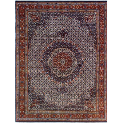 One-of-a-Kind Millay Sherazi Saman Hand-Knotted Wool Blue Area Rug
