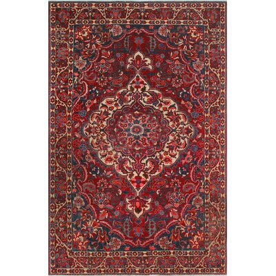 One-of-a-Kind Millay Heriz Marmar Hand-Knotted Wool Red Area Rug