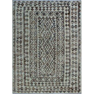 One-of-a-Kind Kratzerville Kilim Zalika Hand-Woven Wool Beige Area Rug