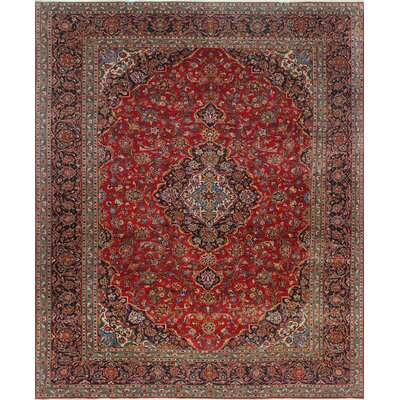 One-of-a-Kind Millay Kashan Farrokh Hand-Knotted Wool Red Area Rug