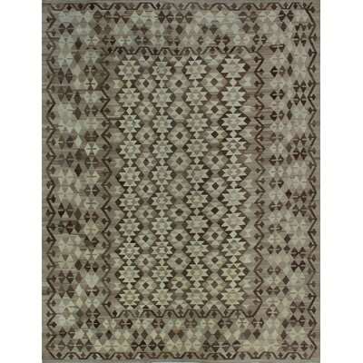 One-of-a-Kind Kratzerville Kilim Issa Hand-Woven Wool Ivory Area Rug