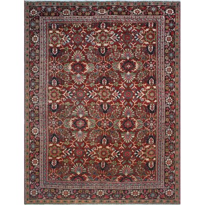 One-of-a-Kind Millay Sherazi Laleh Hand-Knotted Wool Red Area Rug