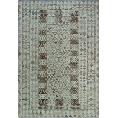 One-of-a-Kind Kratzerville Kilim Aminah Hand-Woven Wool Ivory Area Rug