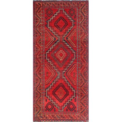 One-of-a-Kind Millay Sherazi Neshat Hand-Knotted Wool Red Area Rug