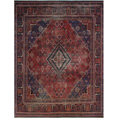 One-of-a-Kind Millay Sherazi Hooman Hand-Knotted Wool Red Area Rug