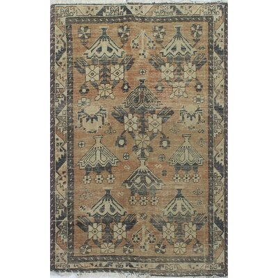 One-of-a-Kind Millay Bukthari Bolour Hand-Knotted Wool Ivory Area Rug