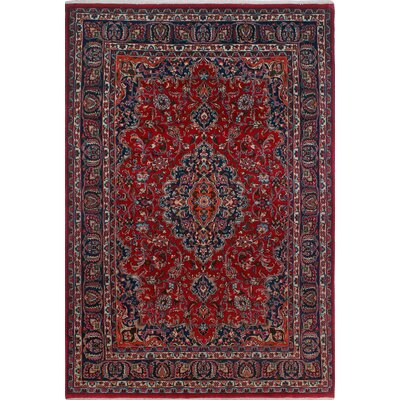 One-of-a-Kind Millay Kashan Farah Hand-Knotted Wool Red Area Rug