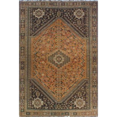 One-of-a-Kind Millay Sherazi Mahrokh Hand-Knotted Wool Rust Area Rug
