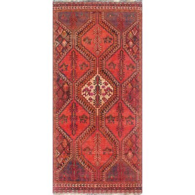 One-of-a-Kind Millay Sherazi Mana Hand-Knotted Wool Orange Area Rug