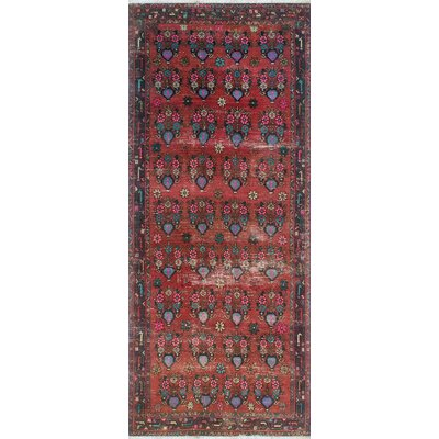 One-of-a-Kind Millay Sherazi Forough Hand-Knotted Wool Red Area Rug