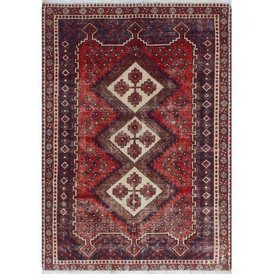 One-of-a-Kind Millay Sherazi Bameen Hand-Knotted Wool Red Area Rug