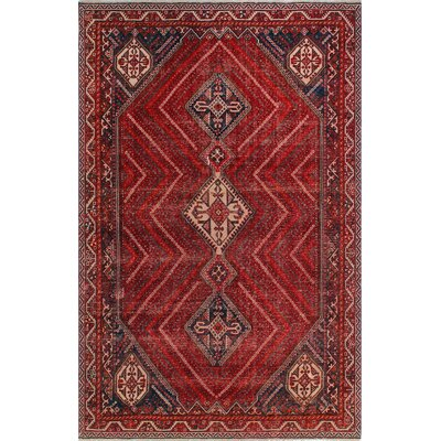 One-of-a-Kind Millay Sherazi Homa Hand-Knotted Wool Red Area Rug