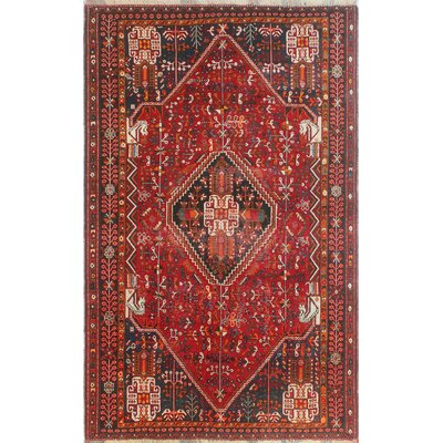 One-of-a-Kind Millay Sherazi Faranak Hand-Knotted Wool Red Area Rug
