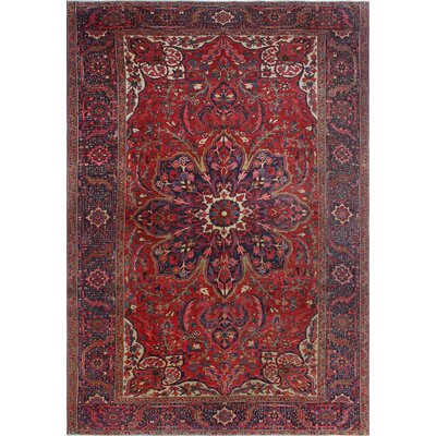 One-of-a-Kind Millay Heriz Farzam Hand-Knotted Wool Red Area Rug