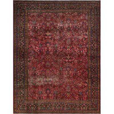 One-of-a-Kind Millay Mashan Neda Hand-Knotted Wool Red Area Rug