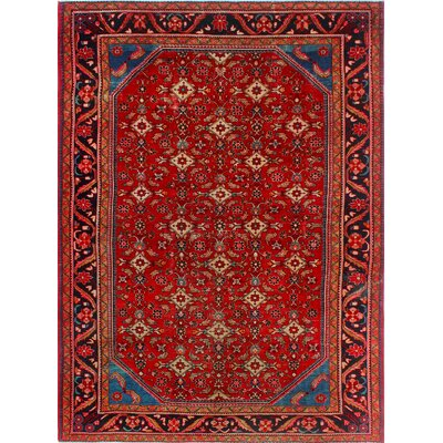 One-of-a-Kind Millay Farhan Farrokhzad Hand-Knotted Wool Red Area Rug