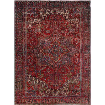 One-of-a-Kind Millay Heriz Aurang Hand-Knotted Wool Red Area Rug