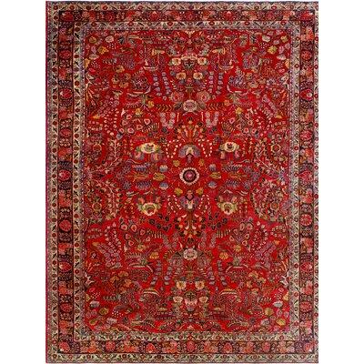 One-of-a-Kind Millay Hamdan Farhad Hand-Knotted Wool Red Area Rug