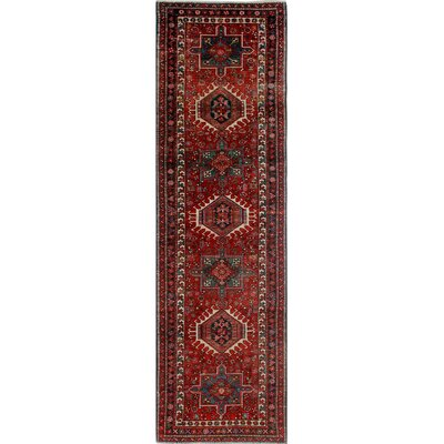 One-of-a-Kind Millay Cocasian Pareeya Hand-Knotted Wool Red Area Rug