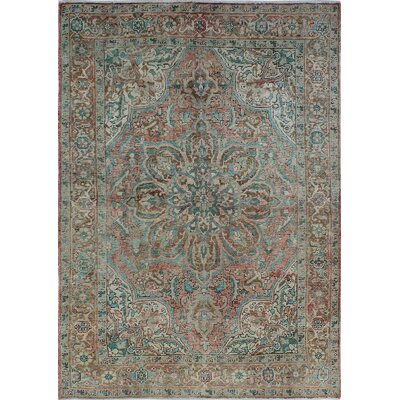 One-of-a-Kind Millay Sherazi Sameen Hand-Knotted Wool Peach Area Rug