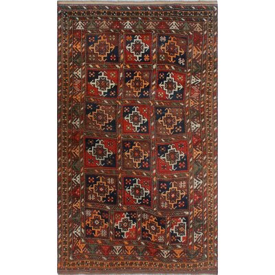 One-of-a-Kind Millay Cocasian Chalipa Hand-Knotted Wool Rust Area Rug