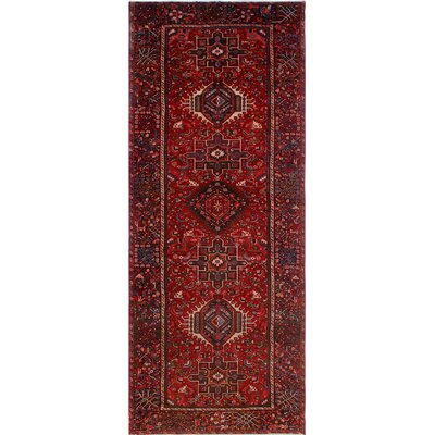 One-of-a-Kind Millay Cocasian Sanam Hand-Knotted Wool Red Area Rug