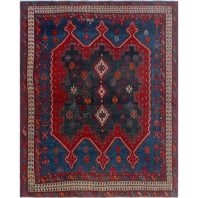 One-of-a-Kind Millay Cocasian Ghamzeh Hand-Knotted Wool Blue Area Rug