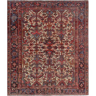 One-of-a-Kind Millay Heriz Atifeh Hand-Knotted Wool Ivory Area Rug