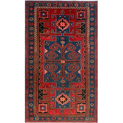 One-of-a-Kind Millay Sherazi Ehsan Hand-Knotted Wool Red Area Rug