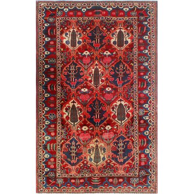 One-of-a-Kind Millay Bukhtiari Farnaz Hand-Knotted Wool Red Area Rug