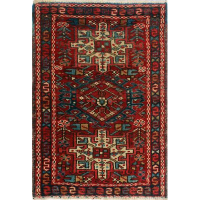 One-of-a-Kind Millay Cocasian Lili Hand-Knotted Wool Red Area Rug