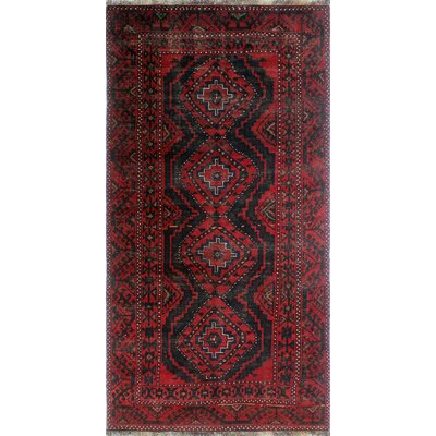 One-of-a-Kind Millet Semi Antique Mehrnaz Hand-Knotted Wool Red Area Rug