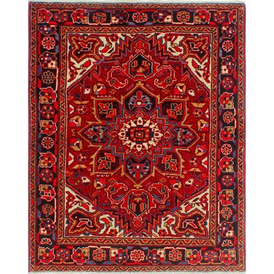 One-of-a-Kind Millay Heriz Foroud Hand-Knotted Wool Red Area Rug