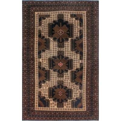 One-of-a-Kind Millet Semi Antique Balouchi Hormoz Hand-Knotted Wool Ivory Area Rug