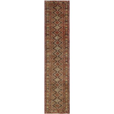 One-of-a-Kind Millay Sherazi Afshar Hand-Knotted Wool Chocolate Area Rug