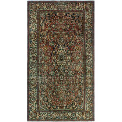One-of-a-Kind Millay Kashan Fardin Hand-Knotted Wool Rust Area Rug