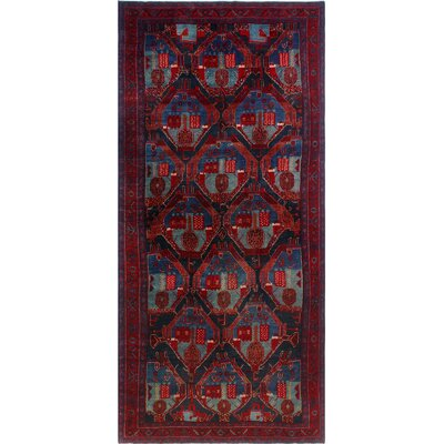 One-of-a-Kind Millay Sherazi Ahou Hand-Knotted Wool Red Area Rug