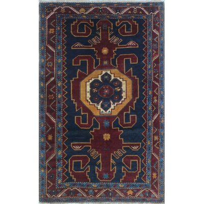 One-of-a-Kind Millay Sherazi Heydar Hand-Knotted Wool Burgundy Area Rug