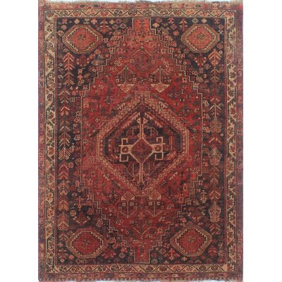 One-of-a-Kind Millet Semi Antique Bozorgmehr Hand-Knotted Wool Orange Area Rug
