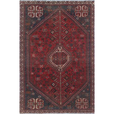 One-of-a-Kind Millet Semi Antique Gita Hand-Knotted Wool Red Area Rug