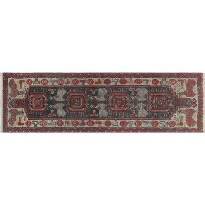 One-of-a-Kind Millay Azari Pegah Hand-Knotted Wool Blue Area Rug