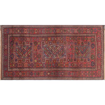 One-of-a-Kind Millay Cocasian Mahsa Hand-Knotted Wool Red Area Rug