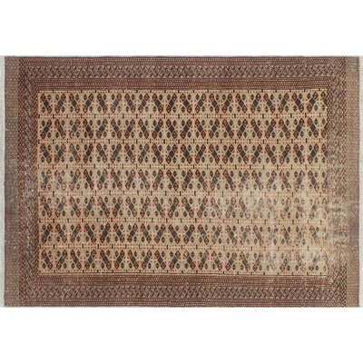 One-of-a-Kind Millay Bokara Ara Hand-Knotted Wool Beige Area Rug