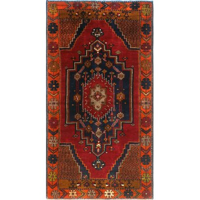 One-of-a-Kind Millay Sherazi Bamshad Hand-Knotted Wool Red Area Rug